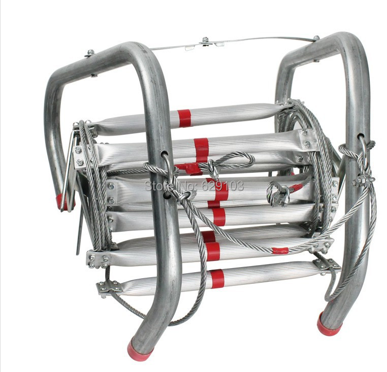 7meters length ,aluminum alloy fire escape ladder,with big hook used for fire fighting