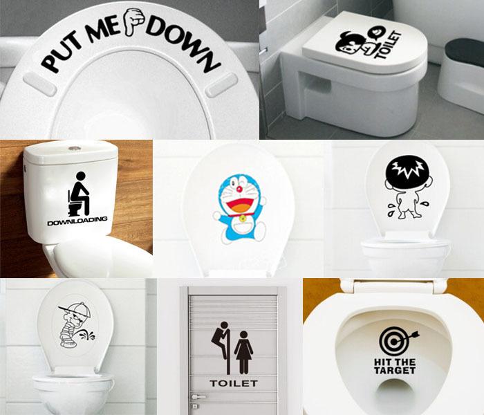 Kleine Badkamer Tegelen ~ pvc nieuwe grappige cartoon 16 stijlen patroon behang badkamer toilet