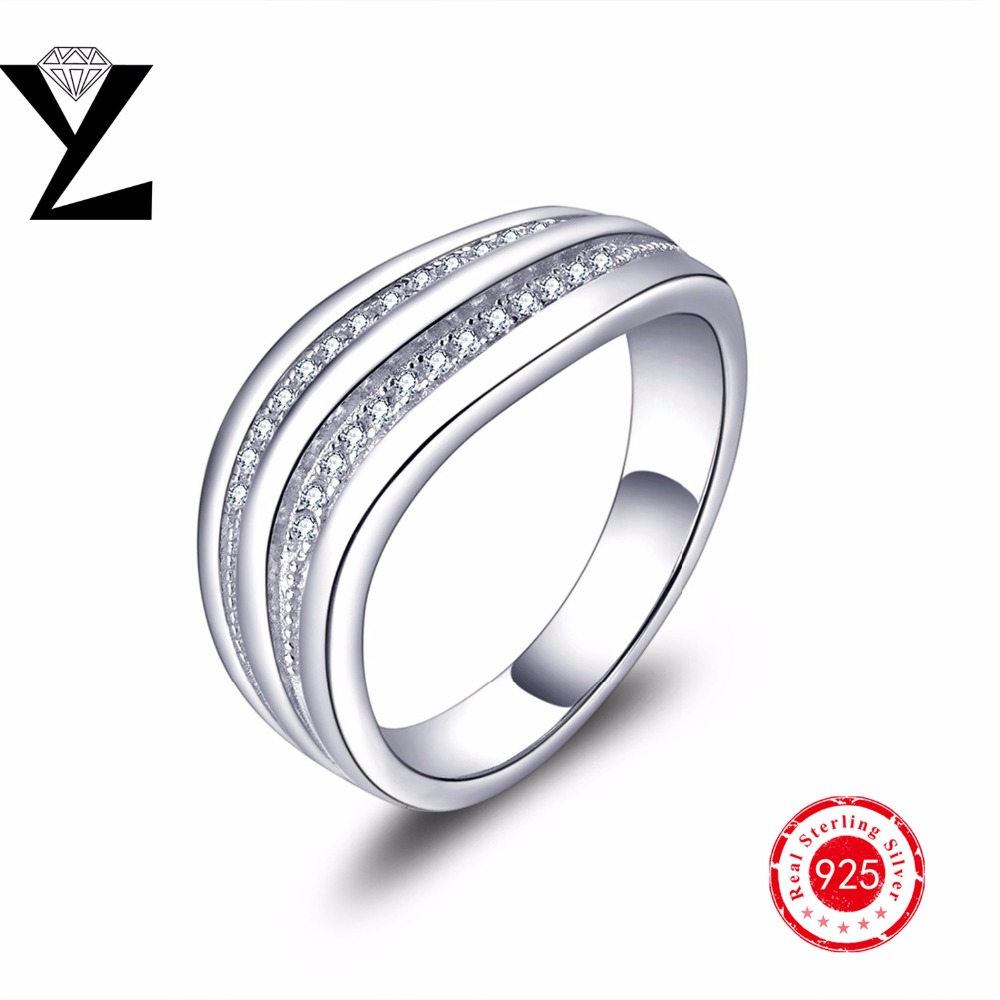 Luxury Finger Eternity 925 Sterling Silver Ring Jewelry With AAA Cubic Zirconia For Anniversary Birthday Gift Wedding Travel(China (Mainland))
