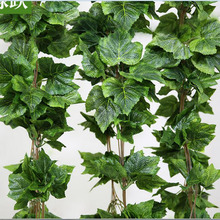 Home Decor Fashion Decorative Flowers Artificial grape leave Leaf Garland Plants Bunch Fake Foliage - Super sweetheart store