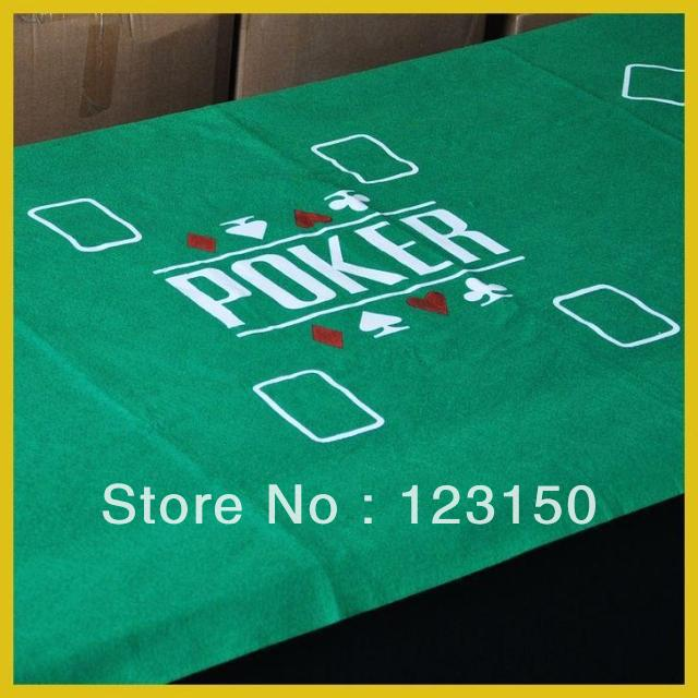 ZB-006 Non-woven fabric Texas Holdem Table Cloth for 8 persons, green felt 90*180CM(China (Mainland))