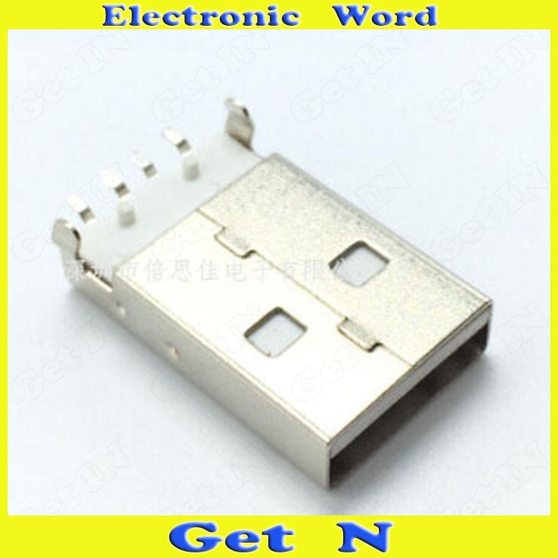 Здесь можно купить  500pcs  2.0 USB Male Plug Jack Connectors Charger Charging Port  Электротехническое оборудование и материалы