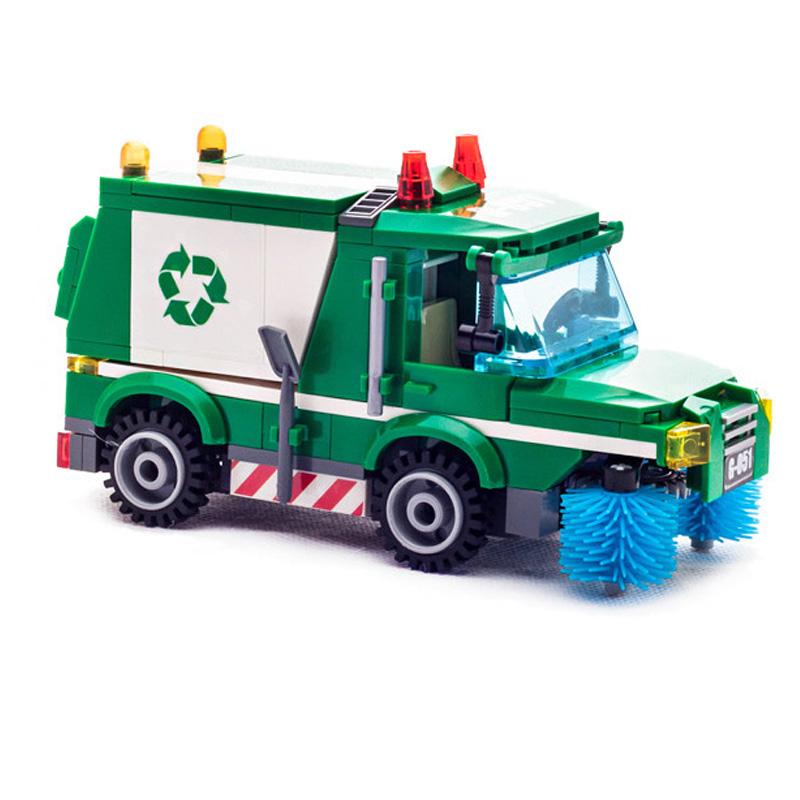 Garbage truck Building Blocks 207pcs Bricks Educational Toys Model Building Kits Compatible with legos City Truck Car Kids Toys(China (Mainland))