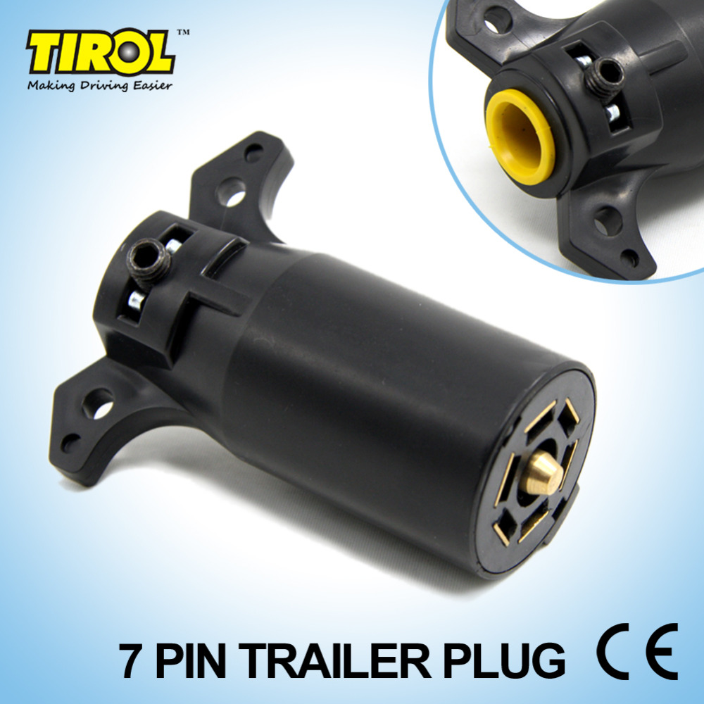 Tirol T21847a 7 Pin Trailer Plug 7 Way Blade Round Connector Plug RV Parts Male 12V Towbar Towing - Trailer End Free Shipping