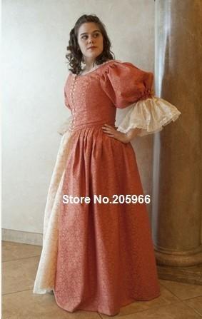 17th Century 3 Musketeer Era Cavalier Dress Gown 1700s ball gown outfit CUSTOM/Vintage Dress/Holiday DressÎäåæäà è àêñåññóàðû<br><br>