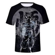 Новейшая классика аниме Жемчуг дракона Z Супер Saiyan 3D футболка Огонь Черный Гоку футболки галактика футболки хип хоп футболки(China)