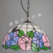30CM stained glass chandeliers table lamps chandeliers kitchen Tiffany butterfly flower studio lighting(China (Mainland))