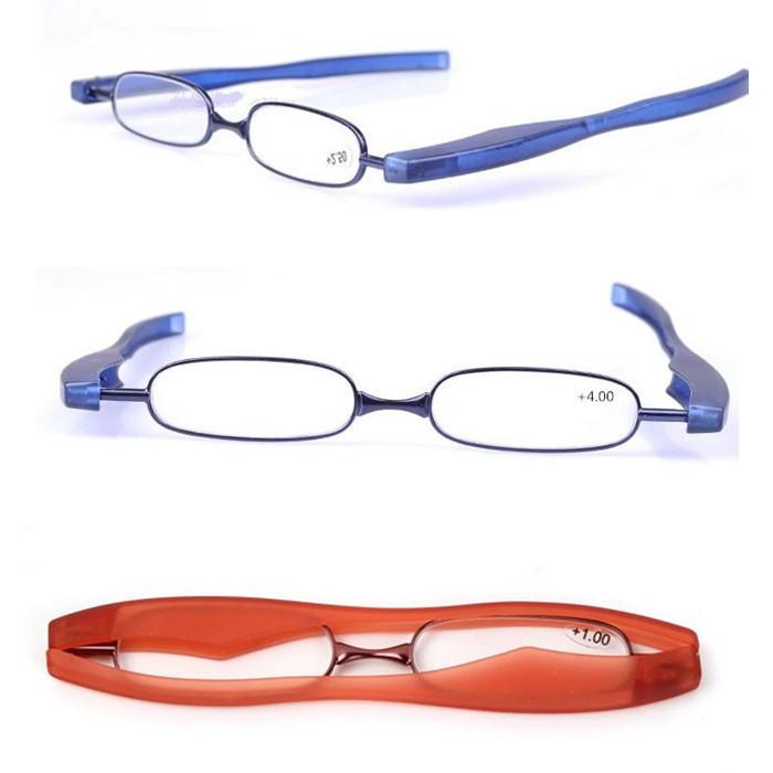 360 degrees folding slim mini flexible frame reading glasses spectacles reader eyeglass eyewear1