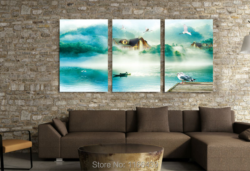 Fashionable household mural adornment decorates a wall mural painting art river scenery without borders(China (Mainland))
