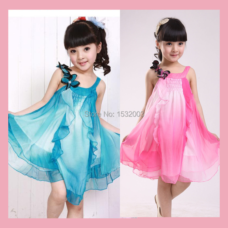 Cute Dresses For Teenagers 2015 Chiffon Lace Teenage Girls Clothing Kid Costume Summer Dress Princess Cute Dresses For Teenagers(China (Mainland))