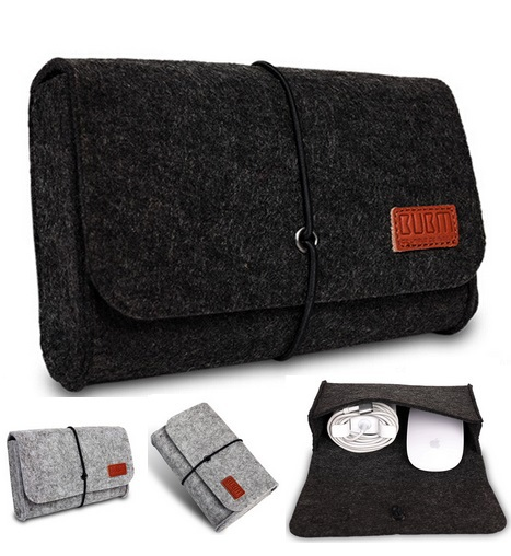 Brand Digital Storage Bag, Wool Felt Bag Pouch For Macbook Laptop Adapt And Mouse Case, 4 Colors,Wholesales,Free Drop Shipping.(China (Mainland))