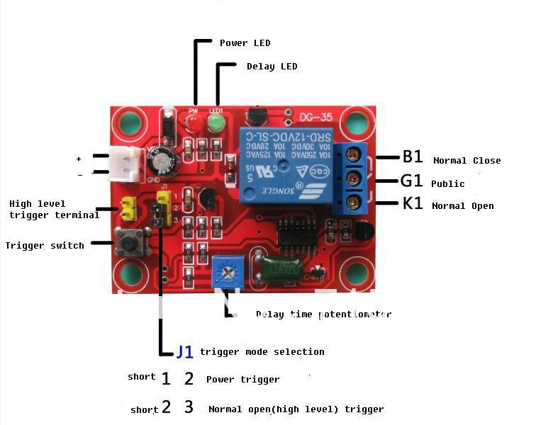 12v time delay relay module electric power trigger or high level trigger inrelays from home