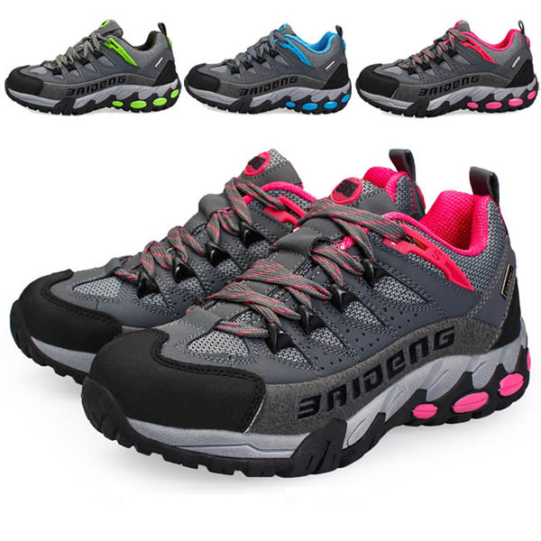 2015 Women outdoor hiking sports shoes woman waterproof mountain climbing female genuine leather walking trekking - jiajia Outdoor Co., Ltd. store