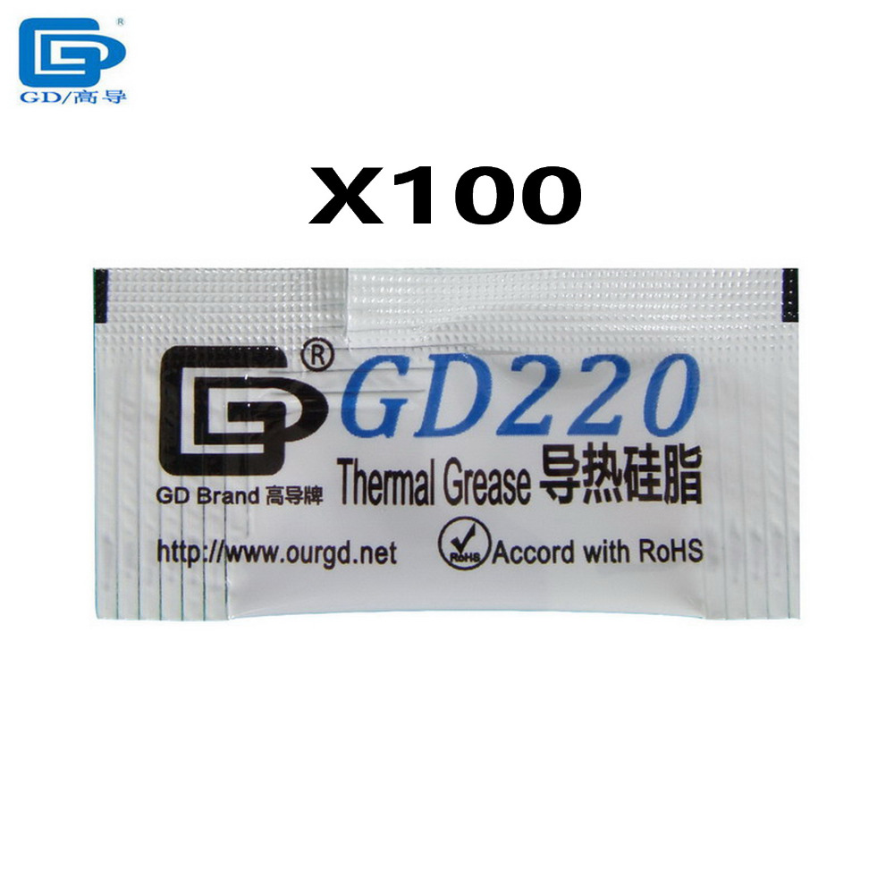 GD Brand 100 pcs/lot 0.5g GD220 Gray Thermal Conductive Compound Grease Paste Silicone Heat Sink Compound MB05(China (Mainland))