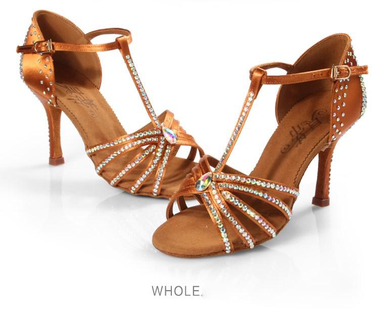 20161121_152602_073Women Dance shoes Ballroom Professional Sports shoes Shiny woman Shoe Soft Bottom High-grade Satin Latin BD217 With diamond hot