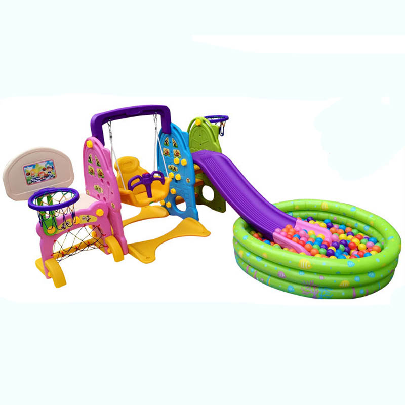 Children's indoor and outdoor multi-purpose household composition thicker slides swings baby toys for children free shipping