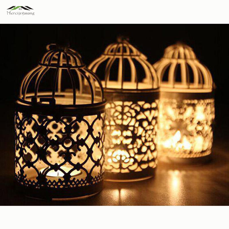 3pcs/lot Metal Bird Cage Wedding Candle Holder Lantern Morocco Vintage Small Lanterns For Candles Decorative Moroccan Lamp 016(China (Mainland))