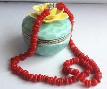 2014 New fashion Nature red coral necklace jewelry(China (Mainland))
