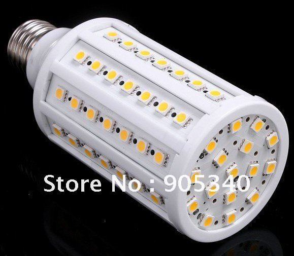 Free shipping Hot selling LED Corn lamp 15W E27 220V ,86 leds SMD 5050 ,1550LM ,IP52 ,360 degree Spot light ,CE ROHS