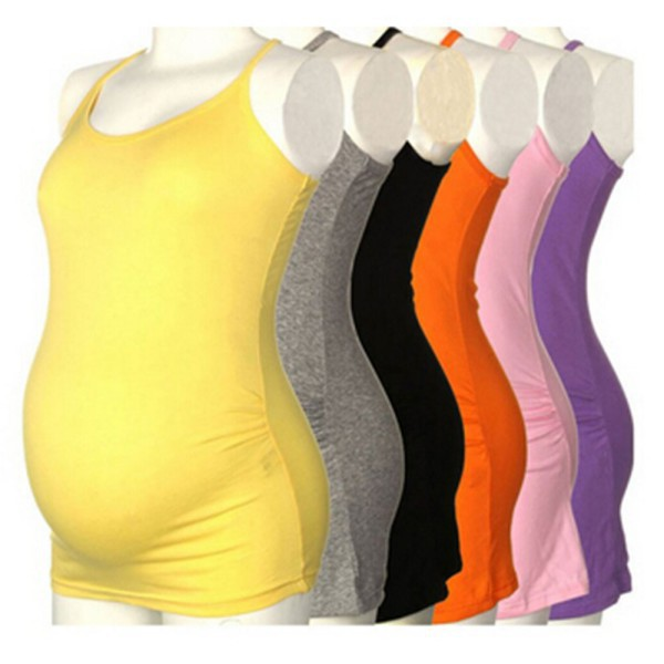 Women's Strappy Vest Tank Tops Camisole Maternity Pregnant Casual T Shirt(China (Mainland))