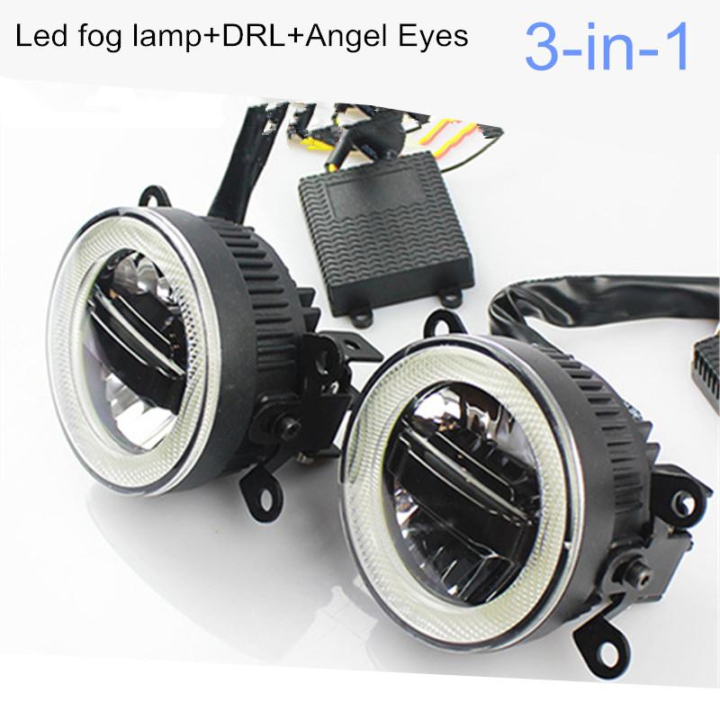 3 in 1 !!LED Fog Lamp + Daytime running lights + Angle eyes lights For Suzuki Swift SX4 Vitara Liana Jimny S-cross(China (Mainland))