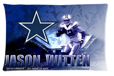 2014 New Jason Witten Custom Home Durable Cool Bedroom Setting Throw Pillow Cases Covers 40x60cm Free Shipping KO/384180(China (Mainland))