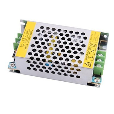 Constant Voltage Switch LED Power Supply 12 5A  60W ,Electronic LED Transformer 110/ 220V To DC 12V  for LED Light<br><br>Aliexpress