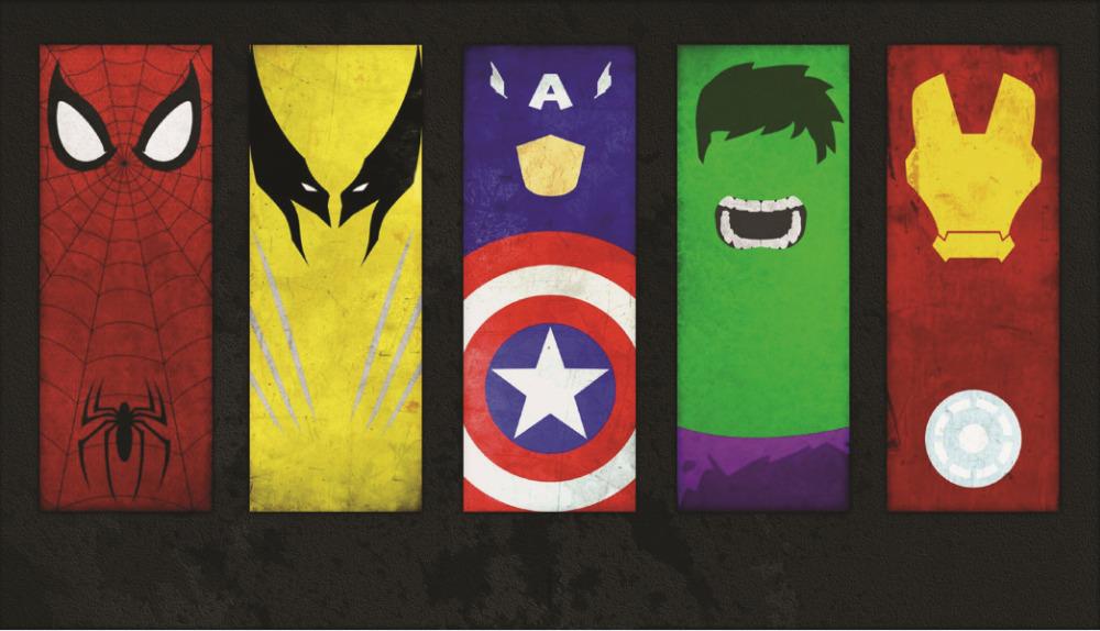Online get cheap marvel superheroes wallpaper aliexpress - Poster super heros ...
