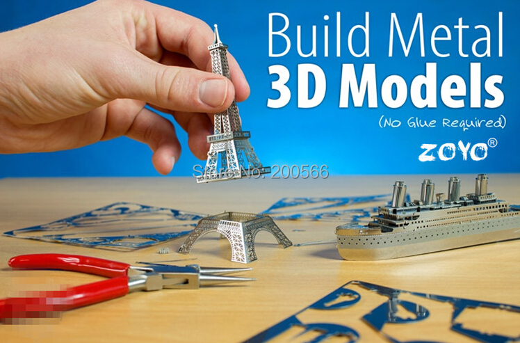 3D puzzle DIY metal model toy gift birthday zoyo 1 - AS SEEN ON TV store