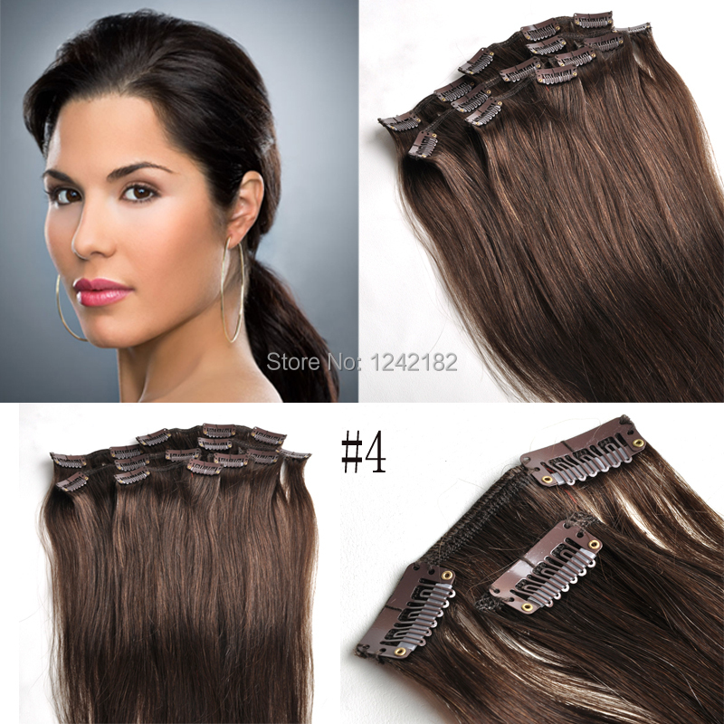 Clip In Double Weft Human Hair Extensions 57