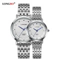 LONGBO Luxury Lovers Couple Watches 2016 Fashion Women Stainless Steel Quartz Watch Men s Waterproof Business