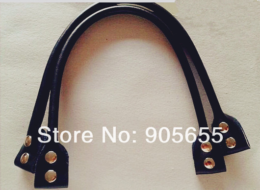 Free shipping 20pcs=10pairs/lot Genuine Leather DIY bag handle.Leather Handbag Handle DIY strap /Belt Bag accessories 55*0.8cm(China (Mainland))
