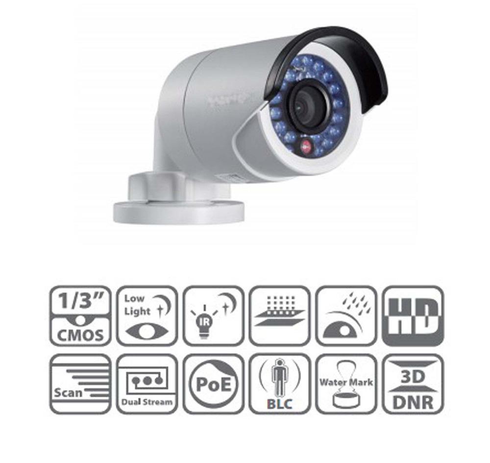 Фотография Multi-language HIK IP Camera DS-2CD2035-I 3mp High Resolution POE CCTV Camera Outdoor Bullet Camera
