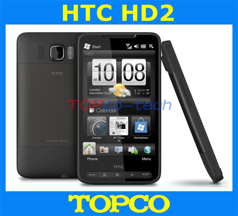 "100% original HTC HD2 unlocked GSM 3G Windows mobile 6.5 phone HTC HD2 T8585 4.3"" WIFI GPS 5MP dropshipping(China (Mainland))"