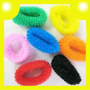 100pcs Girls Soft Ring Elastic Ties Hair Bands Ropes Headbands Multicolors 8334