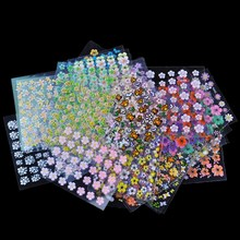 30 Sheet/Lot Floral Design Manicure Transfer Nail Art Tips Stickers Decals 3D Flowers Beauty Tickers For Nails JH177(China (Mainland))