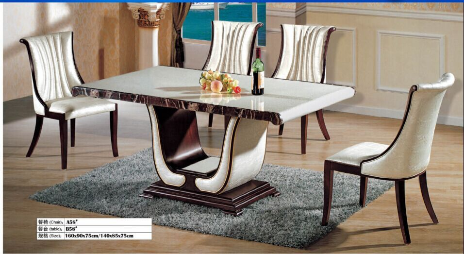 High quality marble dining table and 4 chairs 0446(China (Mainland))