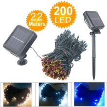 22M 200 LED Solar Lamps LED String Fairy Lights Garlands Holiday Garden Christmas Wedding Solar Lights Party Decoration Outdoor(China (Mainland))