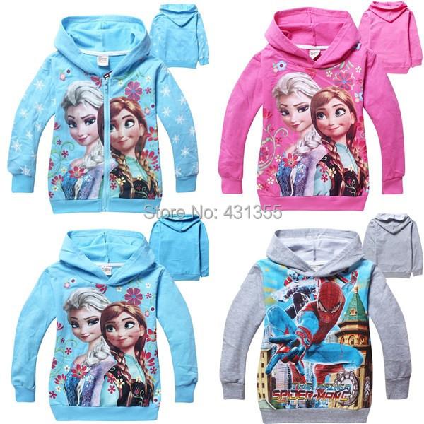 boys and girls spring autumn hoodies sweatshirts children clothes girls elsa hoodies Sweater kids hoodies clothing coat(China (Mainland))