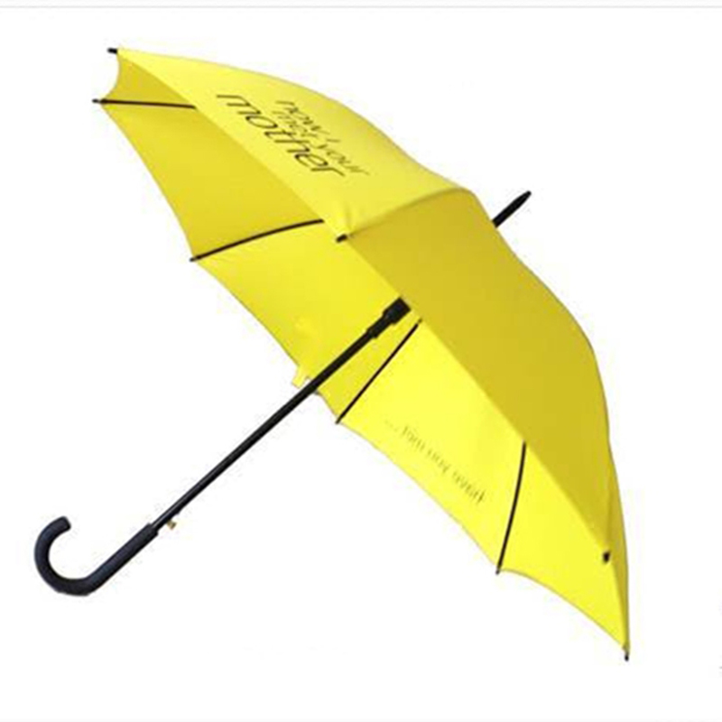 Hot sale film fashion women men how i met your mother umbrella large big yellow long handle windproof rainy straight umbrella(China (Mainland))