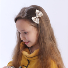 3 Inch Leather Hair Bow With Clip Boutique Leather Hair Bow Mini Hair Clip For Baby Baby Hair Accessories()