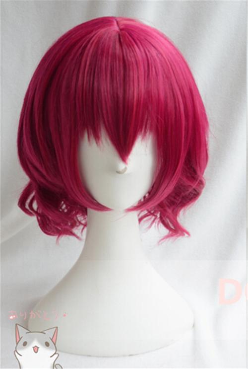 Anime Akatsuki no Yona Yona Cosplay Wig 2015 New Fashion Women Men s Short Rose Red