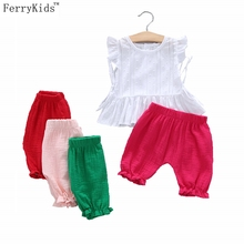 Buy 2017 New Summer Kids Clothes Baby Girls Clothing Sets Sleeveless T Shirt + Shorts Toddler Girl Clothing Children Girls Clothes for $8.19 in AliExpress store