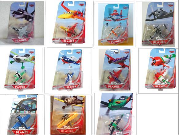 11Pcs/Set Original Pixar Planes Wings Around the Globe Ishani Ripslinger Above 1:55 Diecast Kids Toys Plane Toys For Children(China (Mainland))