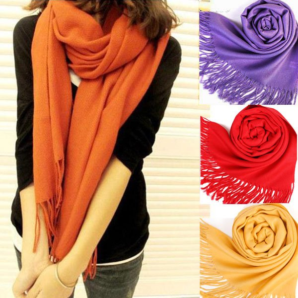 New Scarf Wrap Wool Blends Soft Multicolor Warm Scarves Long Large Shawl Tassels(China (Mainland))