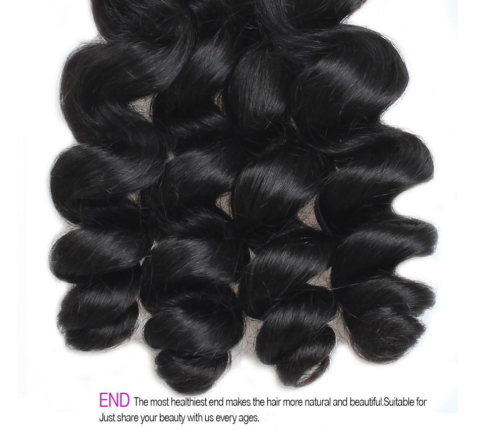 Best Quality Brazilian Virgin Hair Loose Wave 4 Bundles 8A Unprocessed Virgin Human Hair Loose Wave Brazilian Hair Weave Bundles