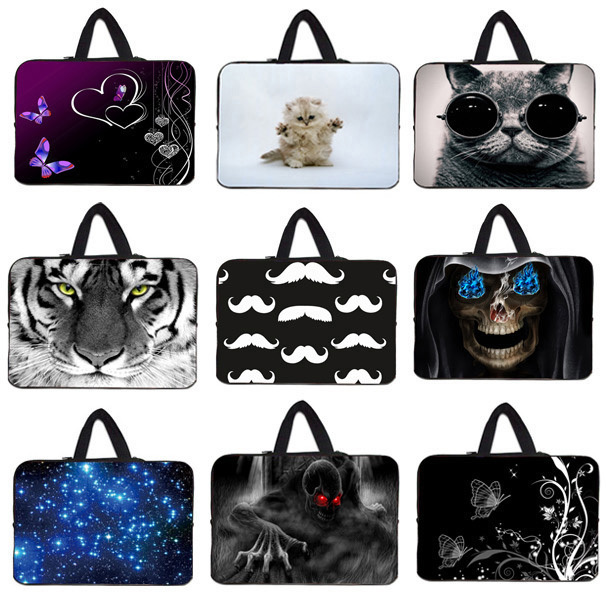 """Free Shipping 7 8 10 12 13 15 17"""" Laptop Bag Notebook Carry Pouch Cover Tablet Zipper Cases For Apple Dell HP ASUS Lenovo Laptop(China (Mainland))"""
