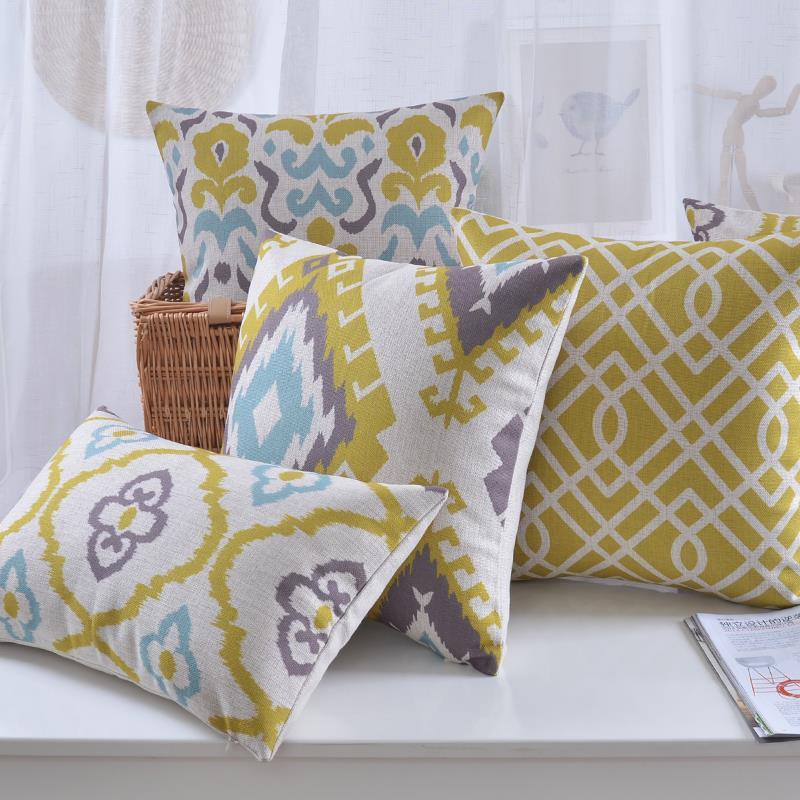 Aliexpress.com : Buy Simple Nordic Geometric pillow Yellow