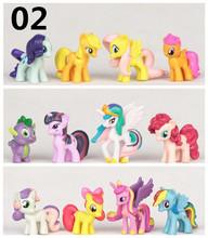 Hot sale 12pcs/set 4-5cm Mini Lovely Kids TV MLP Rainbow Cartoon Animal Little Horse Action Figure Toys