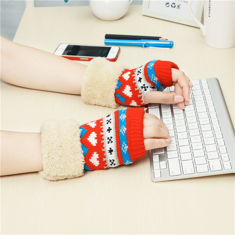 Winter/Fall Daily Gloves Women's Warm Comfortable Fashion Mittens New Thicken Knitting wool Glove  -  Bags Supermarket store